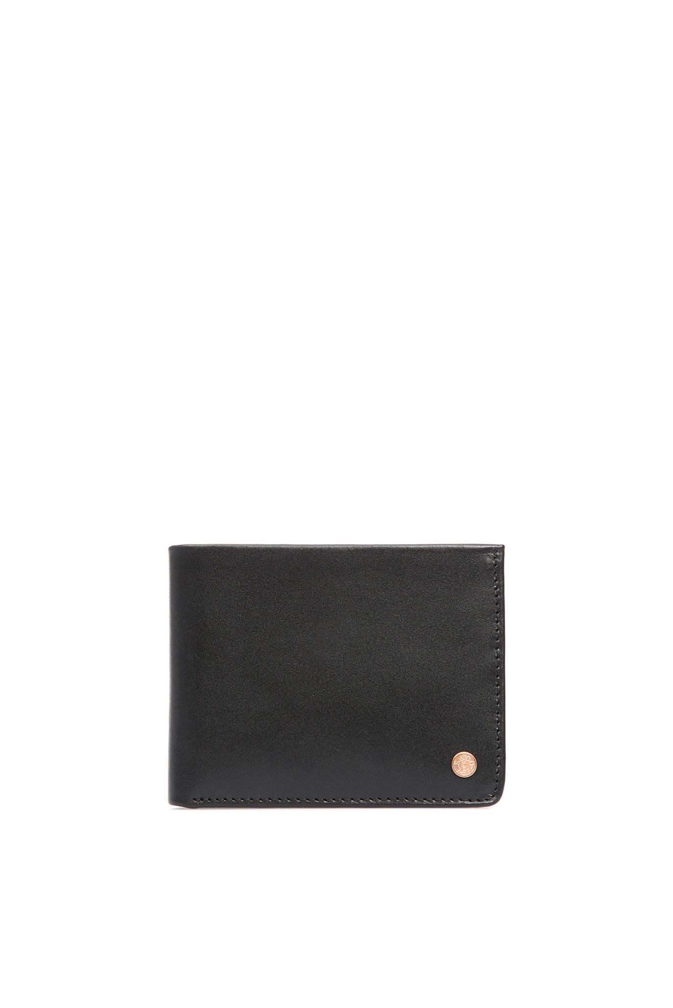 Мужской черный кожаный кошелек Levi's 229104;4.59